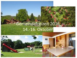 Gemeindefreizeit 2016